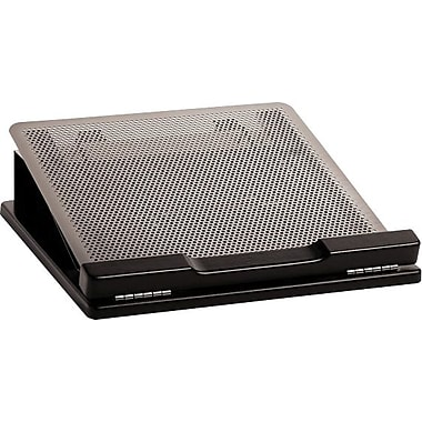 Rolodex™ Distinctions Punched Metal & Wood Laptop Stand