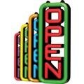 Green Light Innovations Spectrum Vertical Open Sign