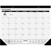 AT-A-GLANCE 2015 Visual Organizer Recycled Black-and-White Desk Pad, Jan.-Dec., Black and White, Desk Pad, 22 x 17