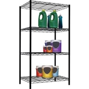 Sunbeam 4 Tier Wire Shelving Unit, Black