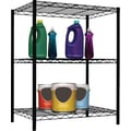 Sunbeam Complete Wire Shelving Units, Black, Assorted Sizes