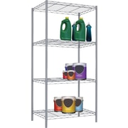 Sunbeam 4 Tier Wire Shelving Unit, Grey