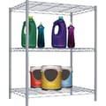 Sunbeam 32in. Complete Wire Shelving Unit, Gray