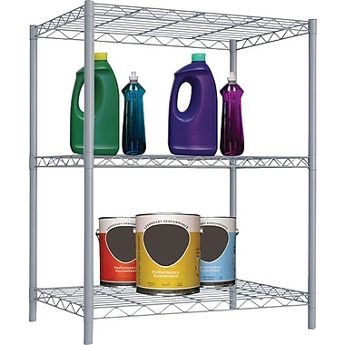 Sunbeam 3 Tier Wire Shelving Unit, Gray