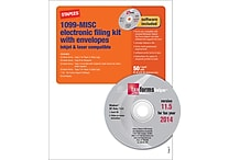 Staples® 2014 Tax Forms, 1099 Misc E File Tax Forms Software & Envelopes, 50/Pack
