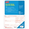 Staples® 2014 Tax Forms, W2 Laser Forms, 50/Pack