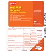 Staples® 2014 Tax Forms, 1099 Misc Inkjet Laser Form, 50/Pack
