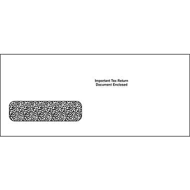 TOPS® Gummed 1042S Tax Single Window Envelope, 24 lb., White, 5 3/4