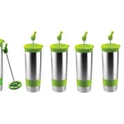 The Hot Press Vacuum Insulated 16 oz Cups, 4/Pack, lime