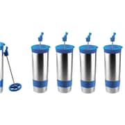 The Hot Press Vacuum Insulated 16 oz Cups, 4/Pack, blue