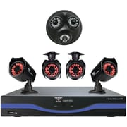8 Channel 960H DVR with 4 x Bullet Cameras and 1 x 3-in-one Audio Dome Camera, HDMI and 500 GB HDD