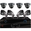 Battery Back Up Security 8 Channel PRO 960H DVR, Smart Device Remote Playback/Viewing, 8 x 700 TVL Bullet/Dome Cameras - with 1
