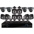 16 Channel PRO 960H DVR, Smart Device Remote Playback/Viewing, 12 x 700 TVL Bullet(8) / Dome(4) Cameras - with 2 TB HDD