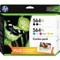 HP 564XL High Yield Black and C/M/Y Color Ink Cartridges (F6V09FN#140), CVP Value Combo 5/Pk