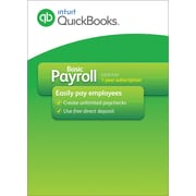QuickBooks Basic Payroll 2016 for Windows (1 User) [Download]