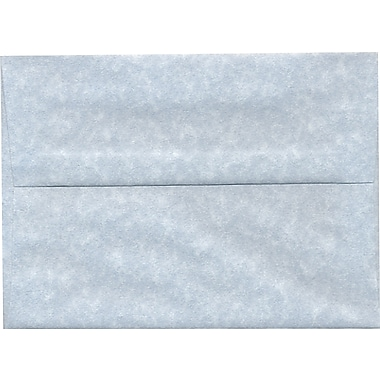 JAM Paper® A7 Invitation Envelopes, 5.25 x 7.25, Parchment Blue Recycled, 100/Pack (10379g)