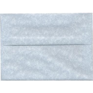 JAM PaperMD – Enveloppes en papier-parchemin recyclé format livret à fermeture gommée, 5 1/4 x 7 1/4 po, bleu, paq./100