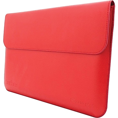 Snugg Leather Wallet Case For Microsoft Surface 1 RT and 2 Pro, Red