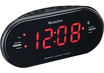 Westclox Bluetooth 1.2' LED Dual Clock Radio with USB Charge Port