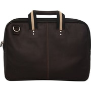 "Jill-e Designs™ Jack Savoy 15"" Leather Laptop Portfolio, Brown"