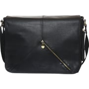 "Jill-e Designs™ Sasha 15"" Leather Laptop Bag, Black"