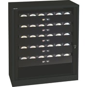 "Bisley® 40"" Premium Multimedia 5-Drawer Tambour Cabinet, Black (TAMK1-BK)"