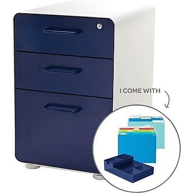 Poppin Stow File Cabinets, Fully Loaded, 3 Drawer, Letter/Legal Size