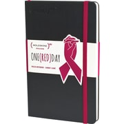 "Moleskine (PRODUCT)RED Special Edition Notebook, Hard Cover, Large, Ruled, Black, 5"" x 8.25"""