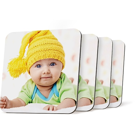 Custom Coasters Personalized Photo Coasters Staples 174