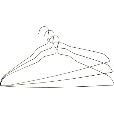 Steel Wire Shirt Hanger, 20in, 500/Pack