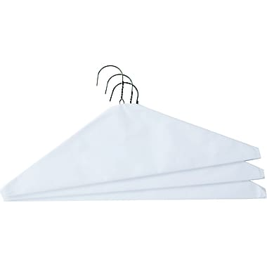 Steel Wire Caped Hanger, 16in, 500/Pack
