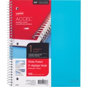 "Staples Accel Durable Poly Cover Notebook, Teal, 8-1/2"" x 11"", Each (20955)"