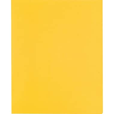 Staples® School Grade 2 Pocket Folder with Fasteners, Yellow, 25/Box