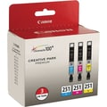 Canon CLI-251 Color C/M/Y Ink Cartridges (6514B009), 3/Pack