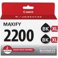 Canon PGI-2200 XL Black Ink Cartridges, (9255B006) High Yield 2/Pack