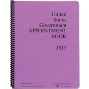 "Unicor Spiral Bound 2015 Appointment Book, 8 1/2"" x 11"", 104 Sheets"