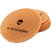 "3M Ultra High-Speed Burnishing Floor Pads 3400, 19"", Tan (05605)"