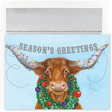 Great Papers® Holiday Cards Holiday Long Horn , 18/Count