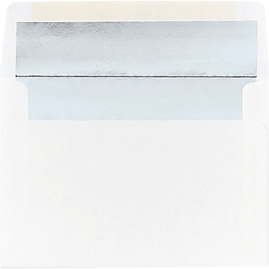 Great Papers® Silver Foil Lined A9 Envelopes, 25/Pack