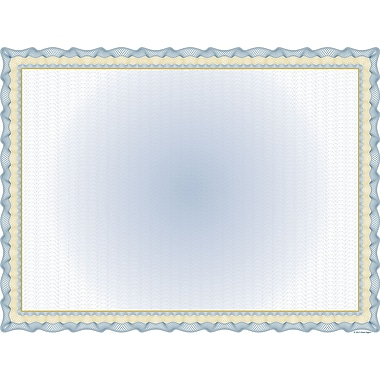 Great Papers® Twisty Graph Navy Foil Certificate, 30/Pack