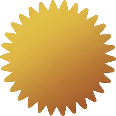 Great Papers® Gold Certificate Seal, 100/Pack