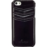 M-Edge iPhone 5/5s Genuine Leather Wallet Case Glossy Black
