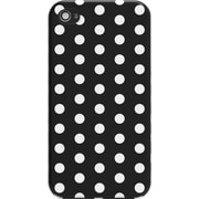 M-Edge Snap case for iPhone 4S Black & White Polka Dots