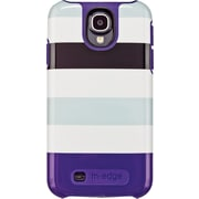 """M-Edge Samsung Galaxy S4 Echo Purple Bold Stripes"