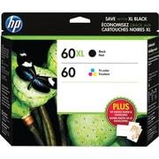 HP – Cartouche d'encre noire haut rendement 60XL et tricolore standard 60, paquet combiné (CZ137FC)