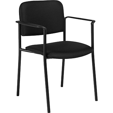 Offices To Go® Minto Stacking Armchair, Ebony