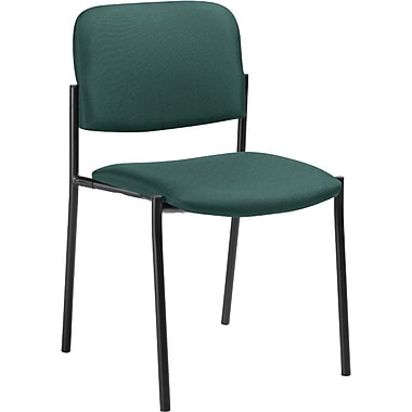 Offices To Go® Minto Stacking Chair (No Arms), Teal