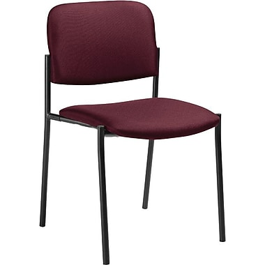 Offices To Go® Minto Stacking Chair (No Arms), Vermillion
