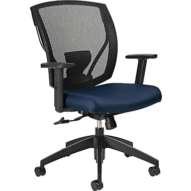Offices To Go® IBEX-F Mid-Back Mesh Tilters with Fabric Seat