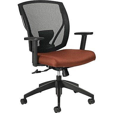 Offices To Go® IBEX-F Mid-Back Mesh Tilter with Fabric Seat, Russet